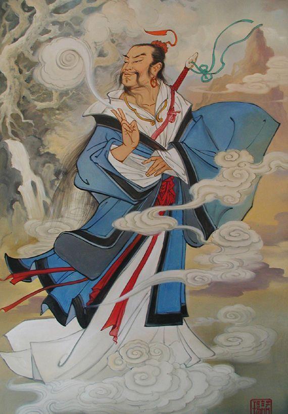 Lü Dongbin mester képe